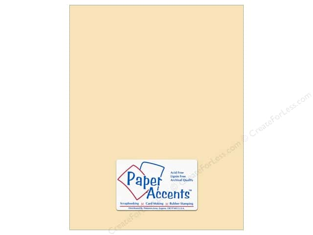 Pearlized Paper 8 1/2 x 11 in. #869C Cornsilk by Paper Accents 5 pc.