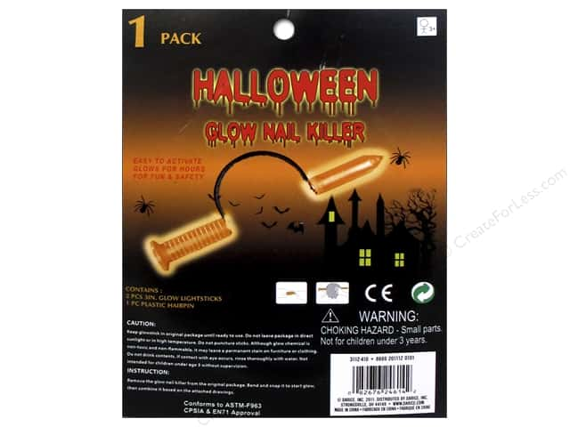 Darice Glowing Halloween Nail Headband Orange