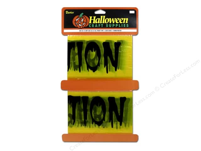 Darice Halloween Fright Tape 2 in. x 20 ft. Yellow