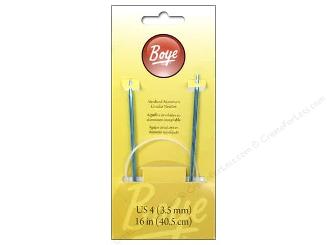 Boye Circular Knitting Needles Aluminum 16 in. Size 4 (3.5 mm)