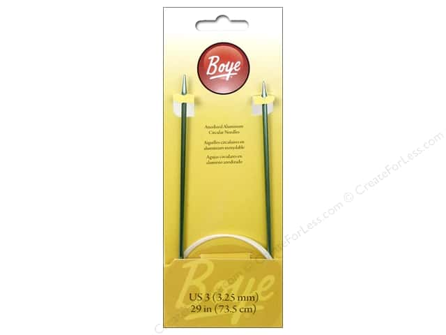 Boye Circular Knitting Needles Aluminum 29 in. Size 3 (3.25mm)