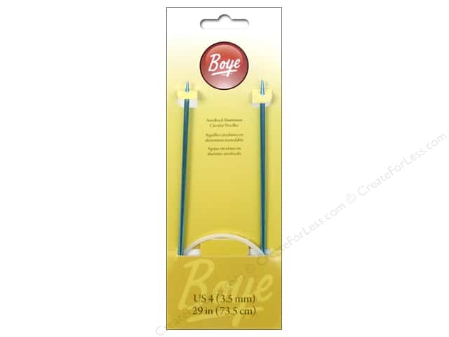 Boye Circular Knitting Needles Aluminum 29 in. Size 4 (3.5 mm)