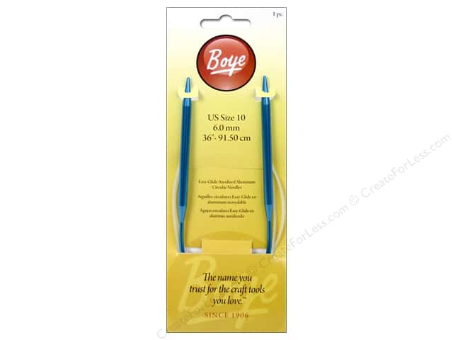 Boye Circular Knitting Needles Aluminum 36 in. Size 10 (6 mm)
