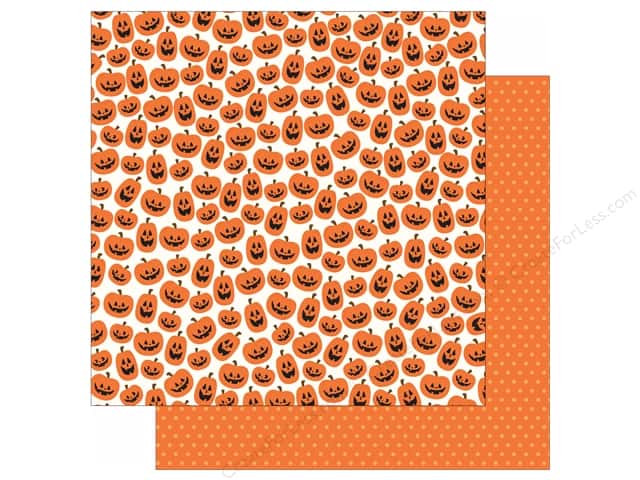 Pebbles 12 x 12 in. Paper Boo Jack O Lantern (25 sheets)