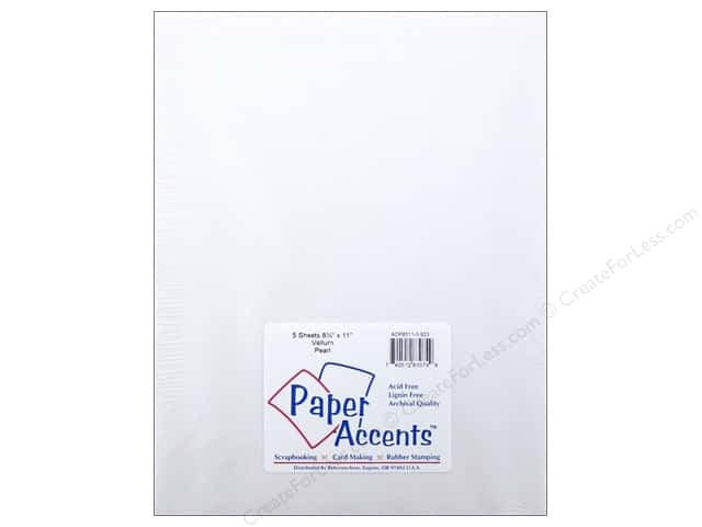 Vellum 8 1/2 x 11 in. #923 Pearl by Paper Accents 5 pc.