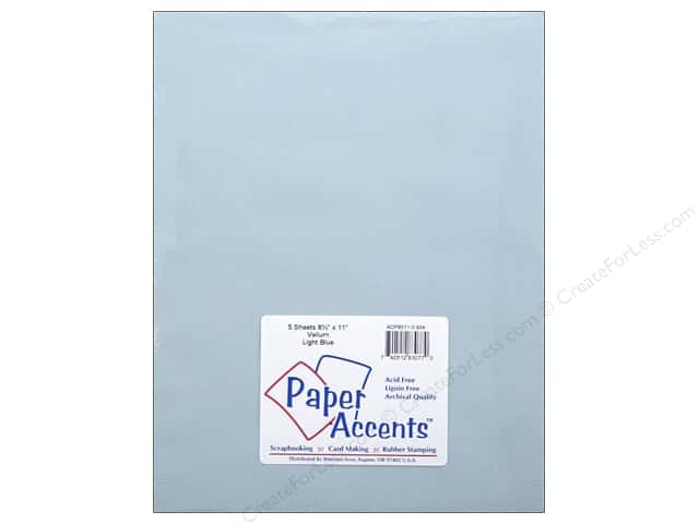 Paper Accents Vellum 8 1/2 x 11 in. #934 Light Blue 5 pc.
