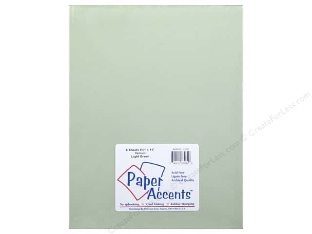 Vellum 8 1/2 x 11 in. #937 Light Green by Paper Accents 5 pc.