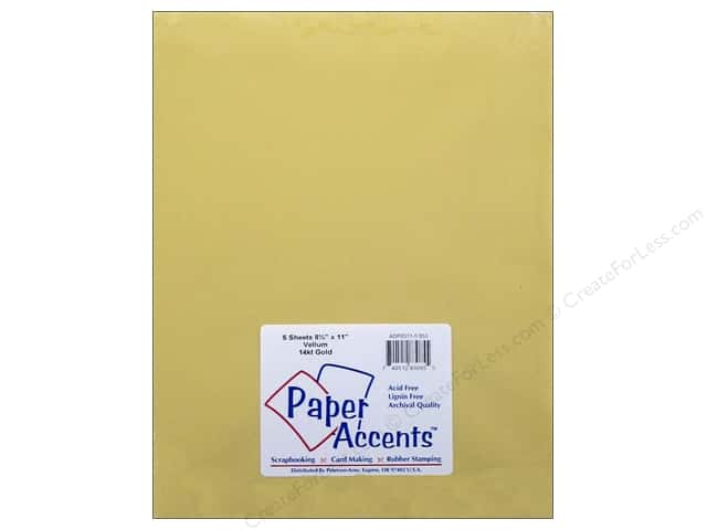 Vellum 8 1/2 x 11 in. #953 14 kt. Gold by Paper Accents 5 pc.