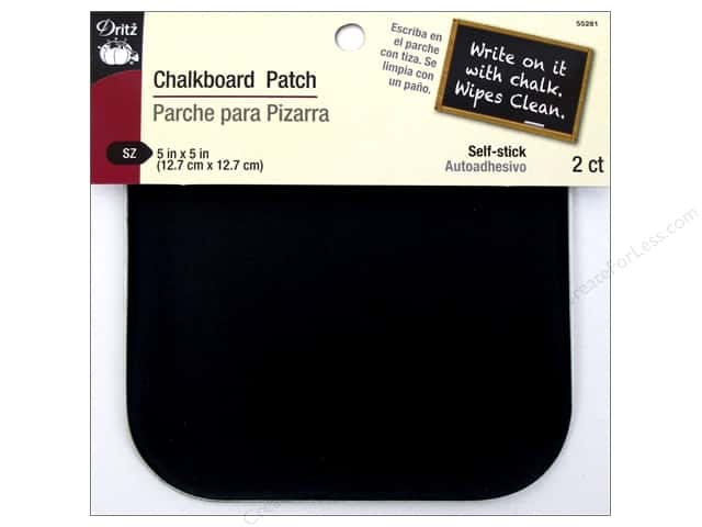 "Dritz Patch Chalkboard 5""x 5"" 2pc"