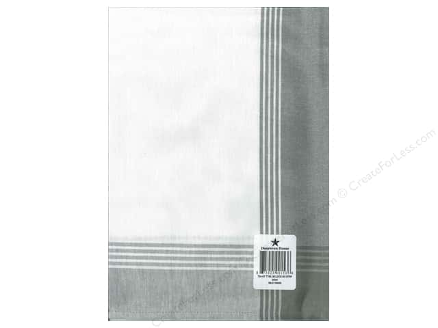 "Dunroven House Towel 20""x 28"" McLeod No Stripe Grey"