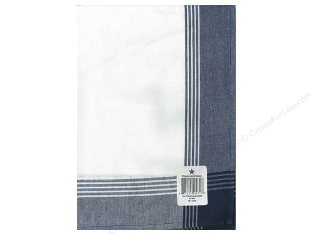 "Dunroven House Towel 20""x 28"" McLeod No Stripe Navy"