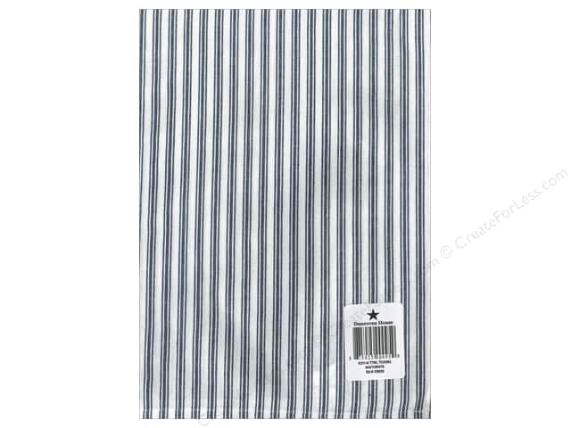"Dunroven House Towel 20""x 28"" Ticking Navy/White"