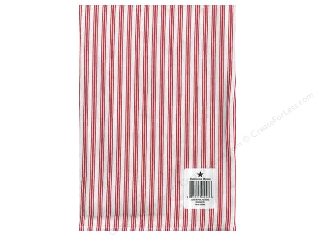 "Dunroven House Towel 20""x 28"" Ticking Red/White"