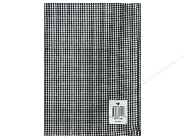 "Dunroven House Towel 20""x 28"" Check Black/White"