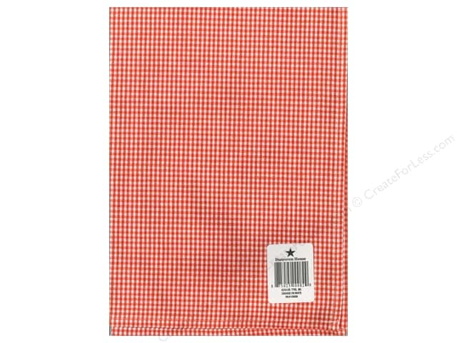 "Dunroven House Towel 20""x 28"" Check Orange/White"