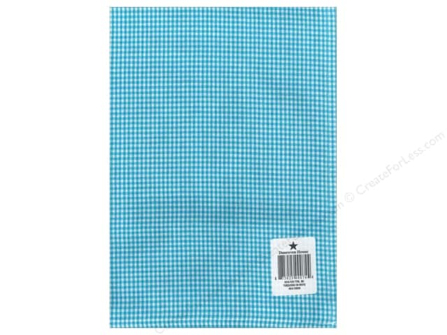 "Dunroven House Towel 20""x 28"" Check Turquoise/White"