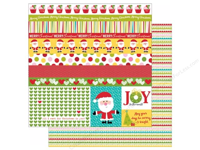 Bella Blvd 12 x 12 in. Paper Make It Merry Borders & Bits (25 sheets)