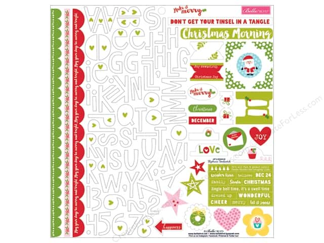 Bella Blvd Stickers Make It Merry Treasures & Text (12 sets)