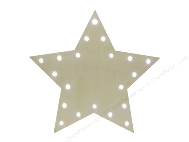 Sierra Pacific Wood Star with Lights 10 in. Natural