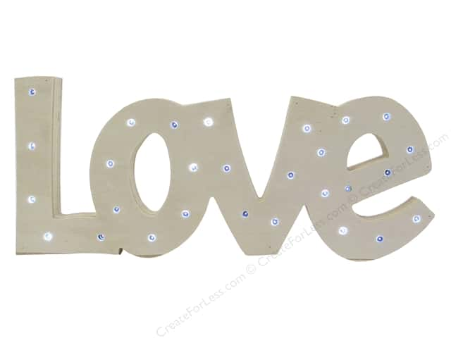 Sierra Pacific Crafts Wood Love with Lights Natural