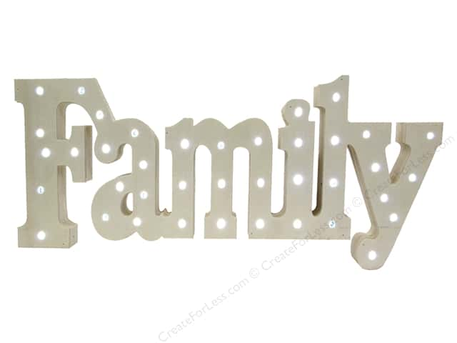 Sierra Pacific Crafts Wood Family with Lights Natural