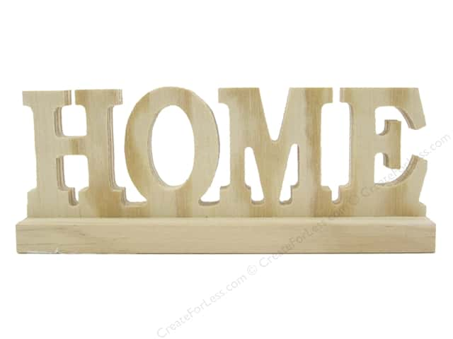 Sierra Pacific Wood Home Sign with Base Natural