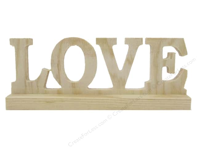 Sierra Pacific Crafts Wood Love Sign with Base Natural