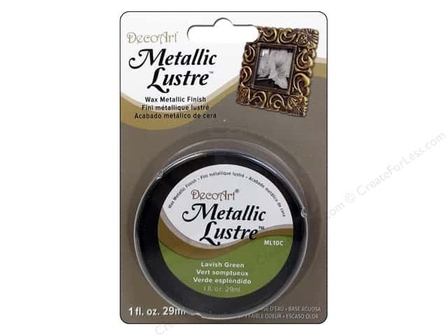 DecoArt Metallic Lustre - Lavish Green 1 oz.