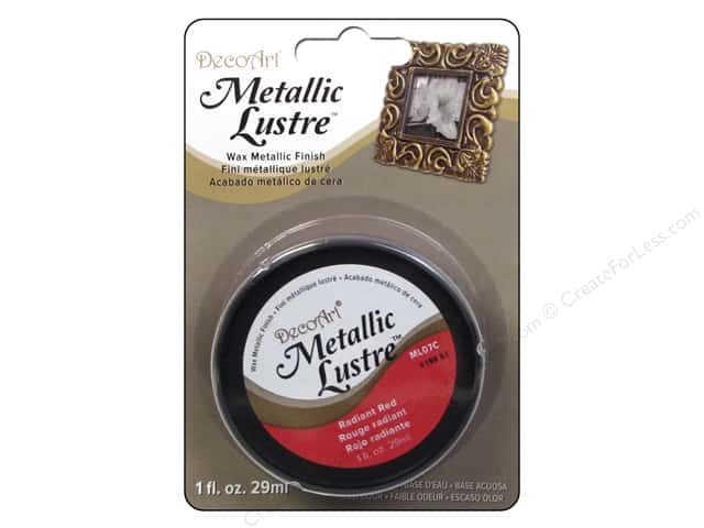 DecoArt Metallic Lustre 1 oz. Radiant Red