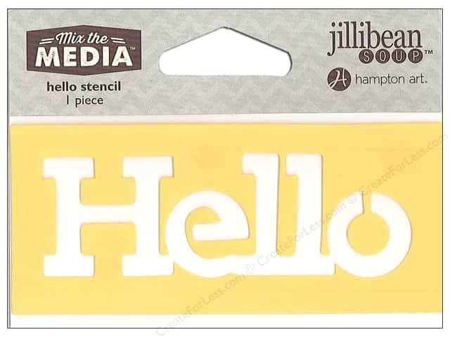 "Hampton Art Mix The Media Stencil 4"" Hello"