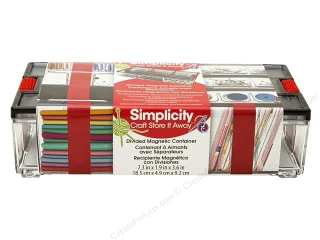 Simplicity Storage Bin Divided Magnetic Container