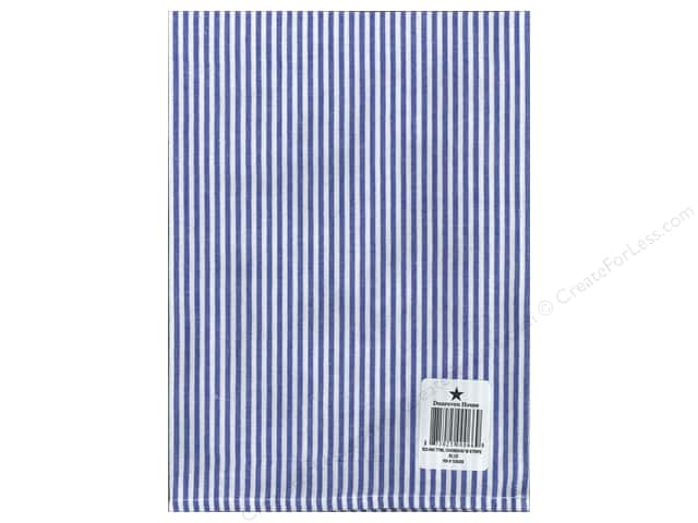 "Dunroven House Towel 20""x 28"" Chambray Stripe Blue/White"