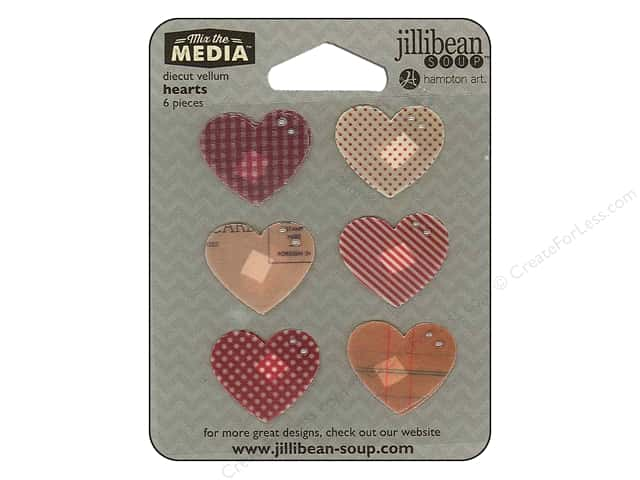 Hampton Art Mix The Media Vellum Hearts
