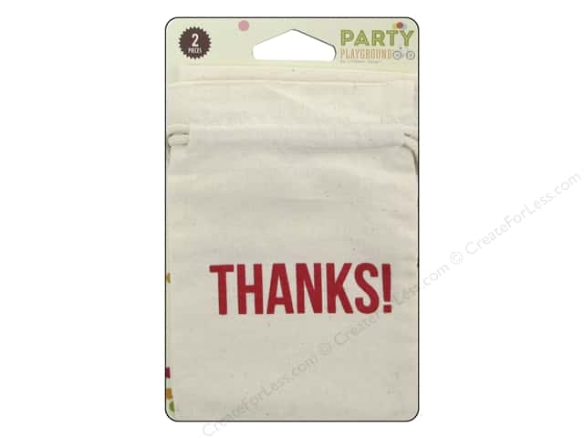 Hampton Art Party Playground Treat Bags Muslin Thanks