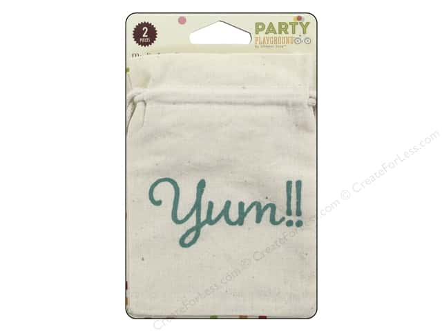 Hampton Art Party Playground Treat Bags Muslin Yum