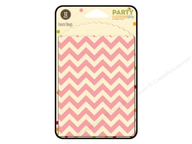 Hampton Art Party Playground Favor Bags Chevron Cotton Candy Pink