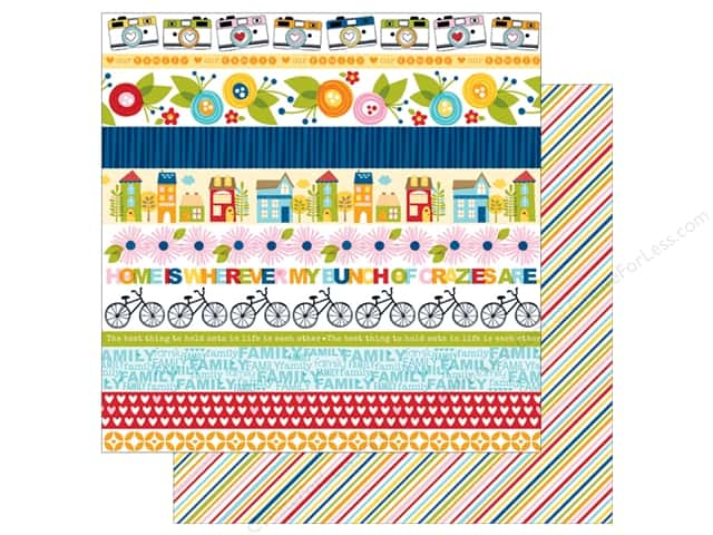 Bella Blvd 12 x 12 in. Paper Family Frenzy Borders (25 sheets)