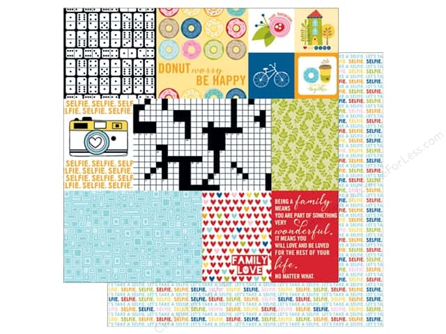 Bella Blvd 12 x 12 in. Paper Family Frenzy Daily Details (25 sheets)