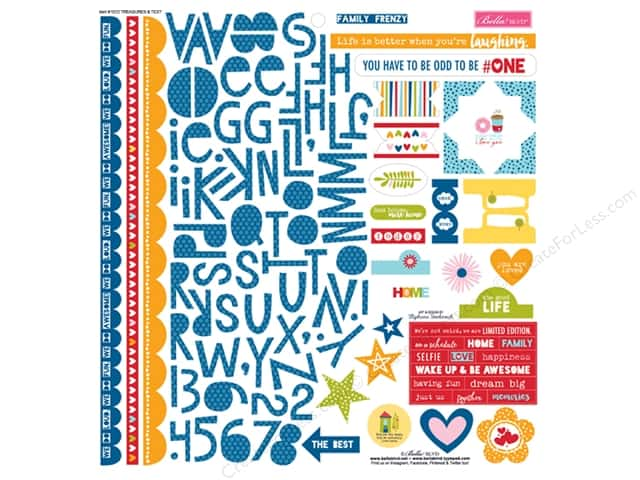 Bella Blvd Stickers Family Frenzy Treasures & Text (12 sets)