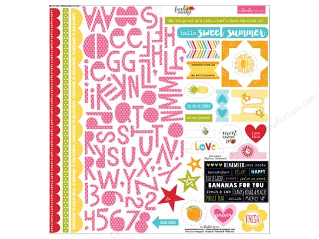 Bella Blvd Stickers Fresh Market Treasures & Text (12 sets)