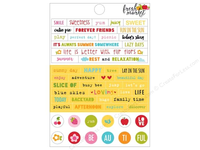 Bella Blvd Stickers Fresh Market Little Bits (12 sets)