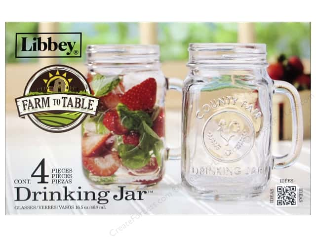Crisa by Libbey Glass Country Fair Drinking Jar 4pc