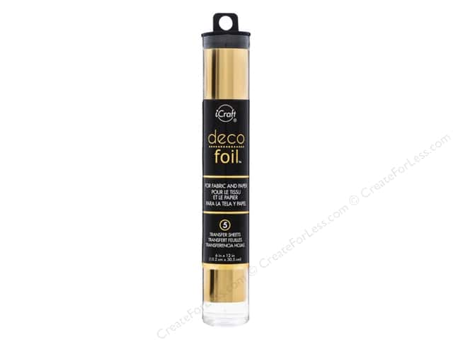 iCraft Deco Foil Sheet 6 in.  x 12 in. 5 pc. Gold