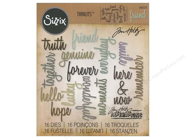 Sizzix Thinlits Die Set 16 pc. Friendship Words: Script