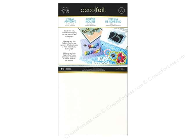 "iCraft Deco Foil Adhesive Foam 6""x 12"" Sheets White 2pc"
