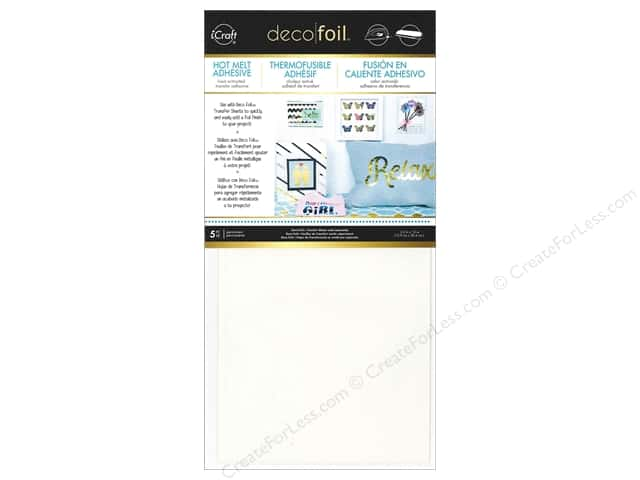 "iCraft Deco Foil Adhesive Hot Melt 5.5""x 12"" 5pc"
