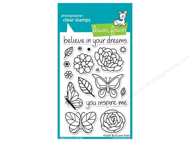 Lawn Fawn Clear Stamp Flutter By
