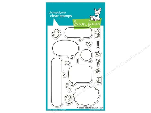 Lawn Fawn Clear Stamp A Birdie Told Me
