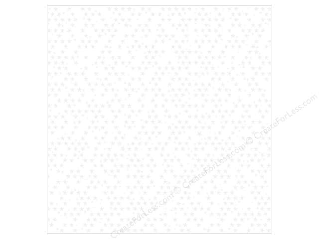 Bella Blvd Clear Cuts Transparency 12 x 12 in. Color Chaos Stars White (12 sheets)