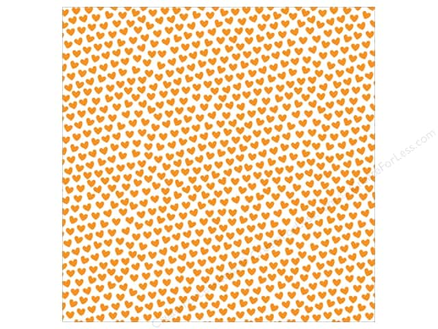 Bella Blvd Clear Cuts Transparency 12 x 12 in. Color Chaos Hearts Orange (12 sheets)